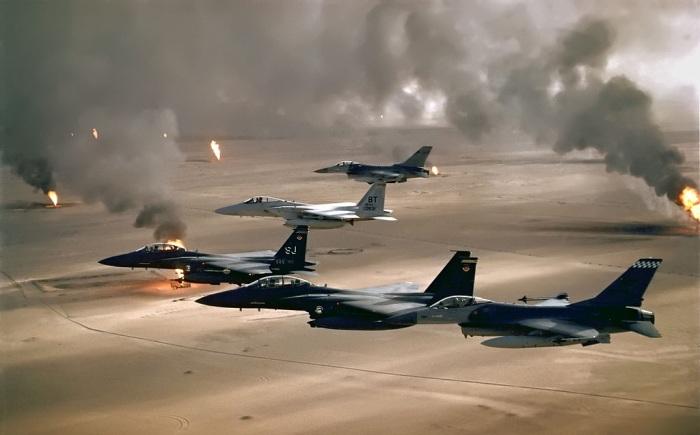 USAF_Desert_Storm_Irakkrieg_Golfkrieg_Islamischer_Staat_IS_Dschihadisten_Sunniten_Schiiten_Saddam_Hussein_George_Bush_Ahmed_Rashid_Pakistan_Peschmerga_Muslimbruderschaft_Islam_Wahhabismus
